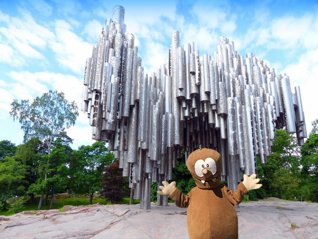 Sibelius monument in Helsinki with kids: Tapsy Tours