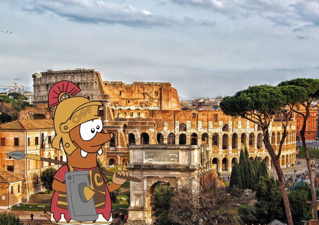 Tapsy Tour of Rome for families with kids inside the Colosseum