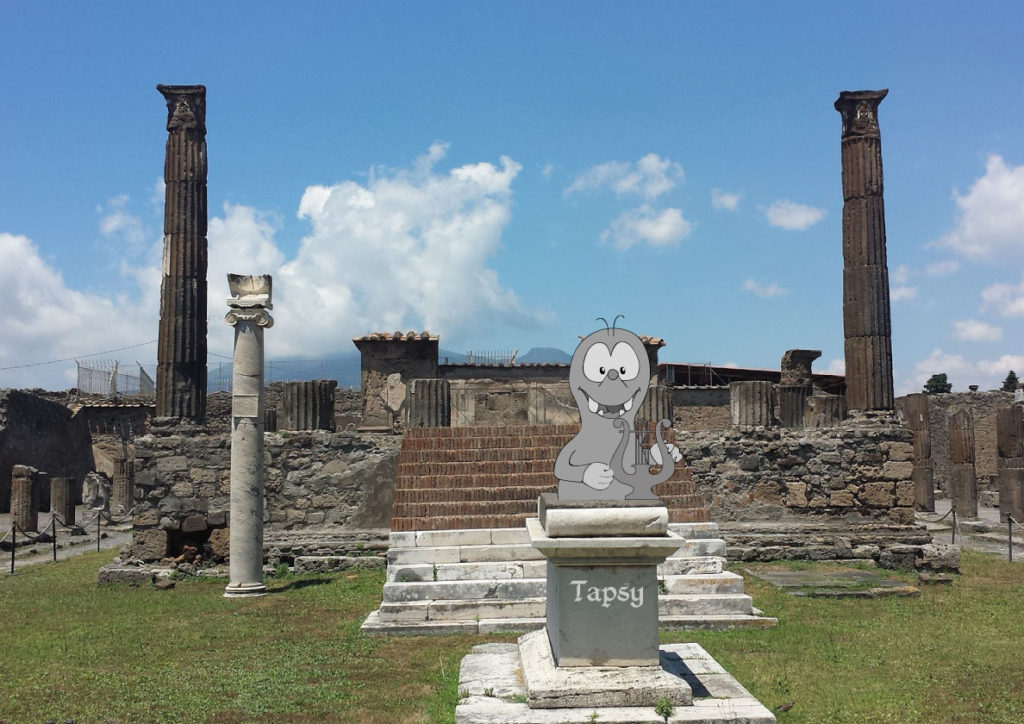 Pompeii with kids: baby changing facilities on Tapsy Blog