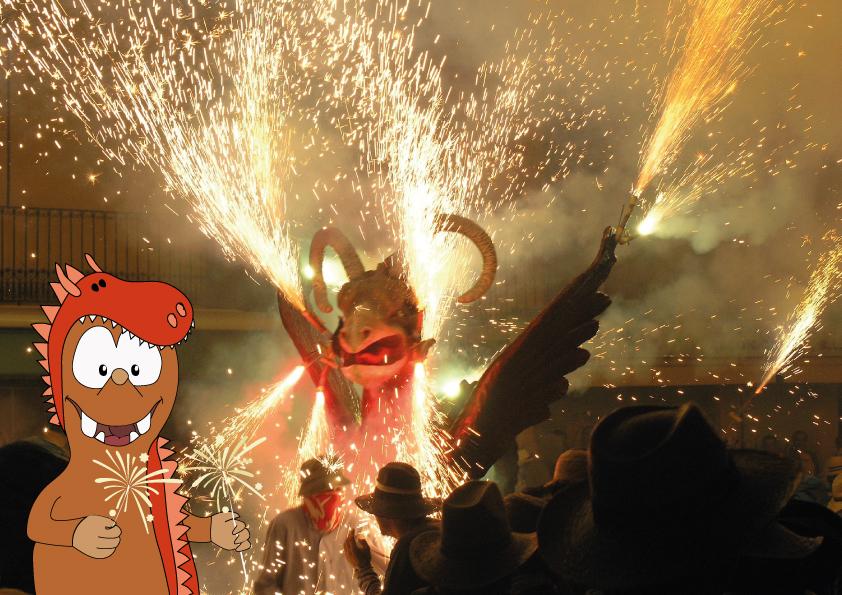 Correfoc fire-works-breathing dragons_Festes de Santa Eulalia on Tapsy Blog