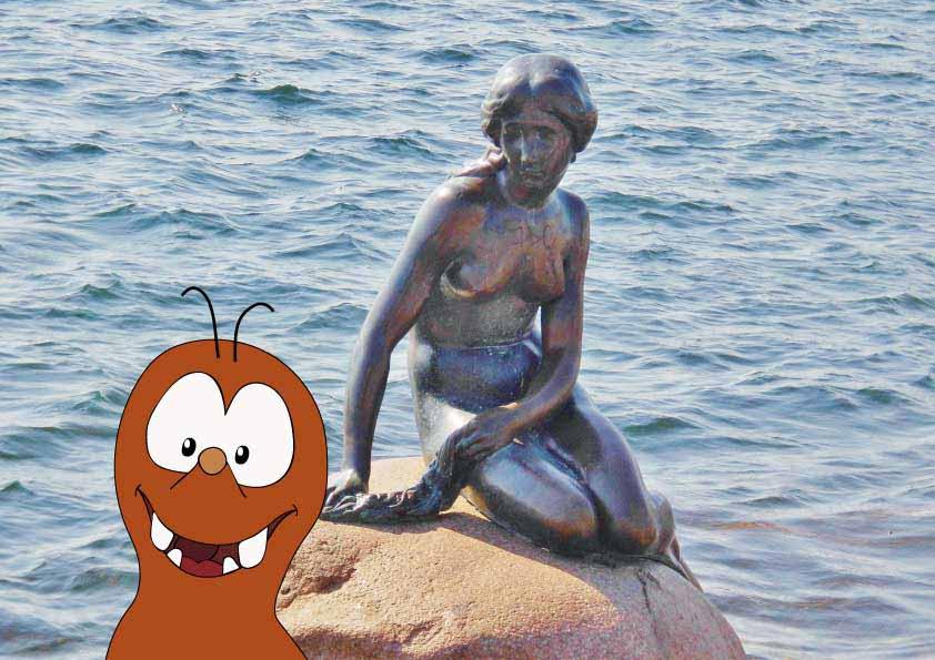 the Little Mermaid statue of Copenhagen on Tapsy Blog