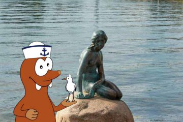 the Little Mermaid statue of Copenhagen on Tapsy Blog